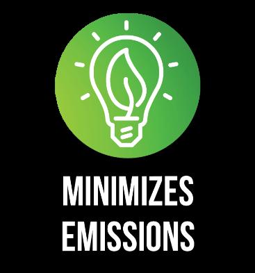 Minimizes emissions
