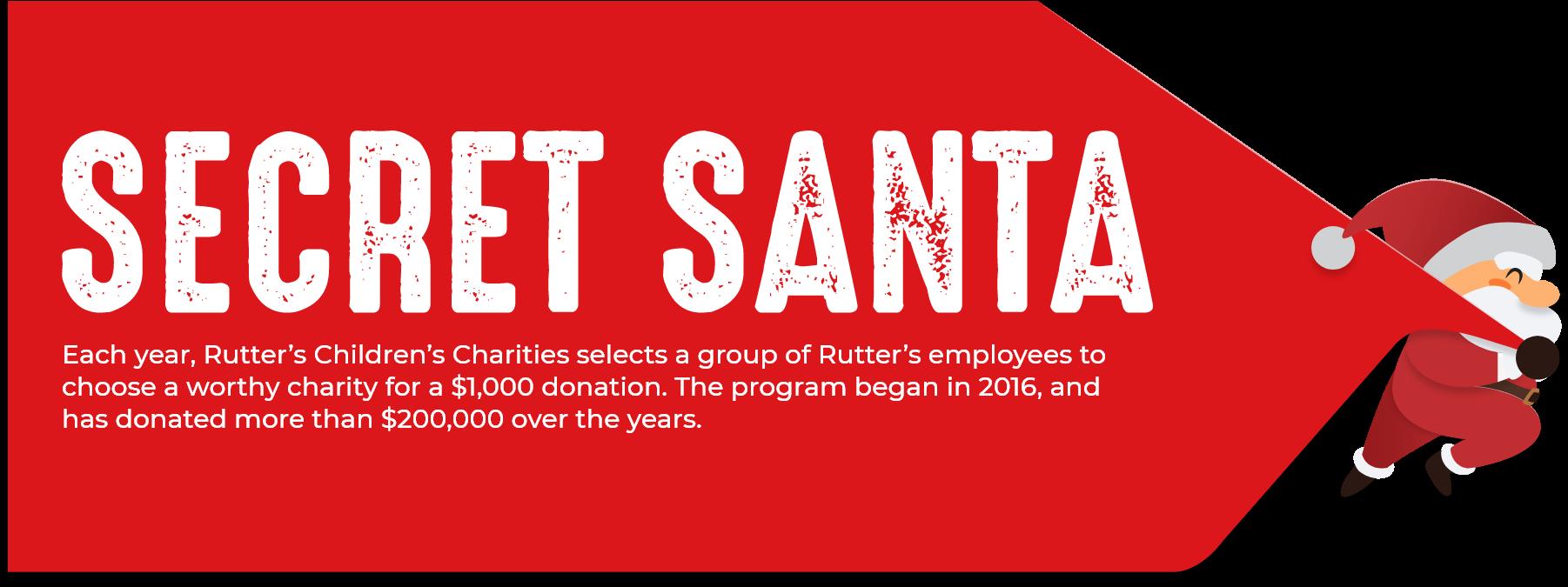 Rutter's Secret Santa Donations