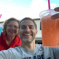 drinking refreshing beverages together